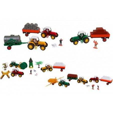 Set 3 tractoare cu remorca Globo si alte accesorii pentru copii*
