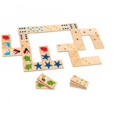 Joc pentru copii Domino 28de piese in cutie GLOBO LEGNOLAND*