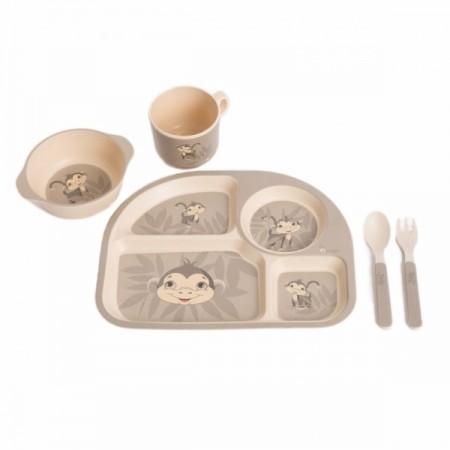 Set cina pentru bebelusi Maimuta Gri, Bo Jungle*