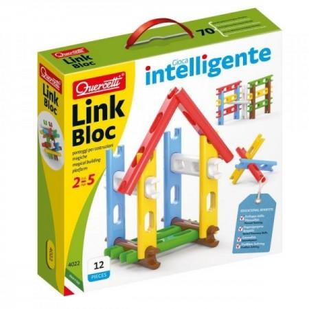 Set constructie Link Bloc 12 piese 4022 Quercetti pentru copii*