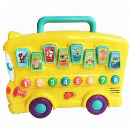 Jucarie bebelusi interactiva Autobuz cu sunete animale, Winfun*