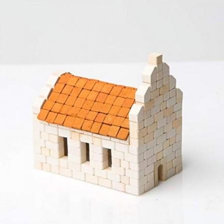Kit constructie caramizi Wise Elk Biserica 340 piese reutilizabile*