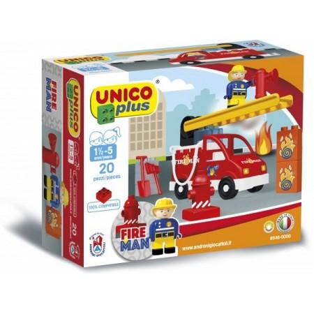 Set constructie Unico Plus Set Pompieri, Androni Giocattoli*