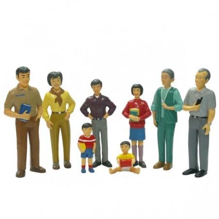 Figurine familie asiatica Miniland