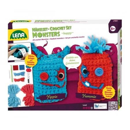 Set crosetat doi monstruleti de lana, Lena*