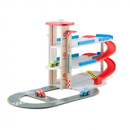 Garaj cu pista si 3 masini, New Classic Toys*