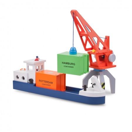 Vas cu 2 containere, New Classic Toys*