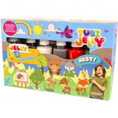 Set Tubi Jelly cu 6 culori - Animale Tuban TU3326*