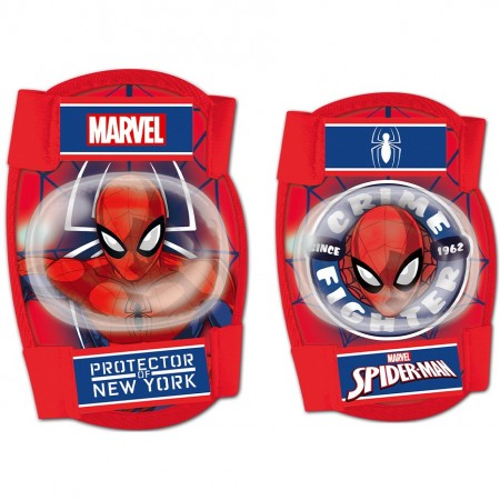 Set protectie Cotiere Genunchiere Spiderman Seven SV9063, rosu*