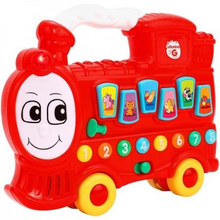 Jucarie muzicala Locomotiva Cho Cho Globo cu sunete si lumini *