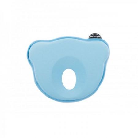 Suport special pentru cap plagioencefalie bebelus BO Jungle sub forma de pernuta bleu*