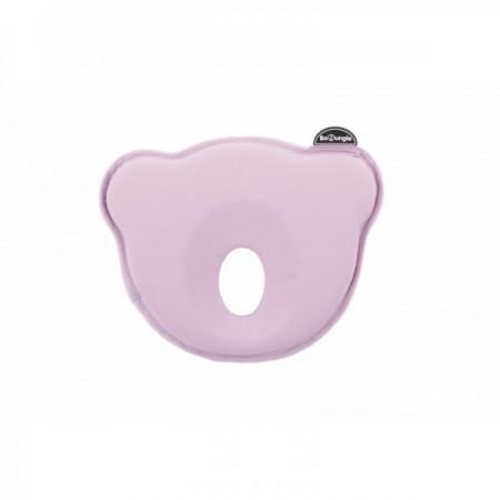 Suport special pentru cap plagioencefalie bebelus BO Jungle sub forma de pernuta roz*