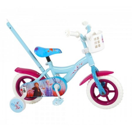 Bicicleta pentru fete Volare Frozen 2 91050 10 inch cu roti ajutatoare si maner control parinte*