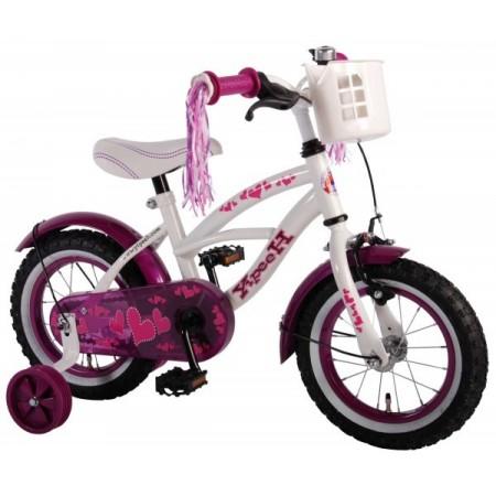 Bicicleta pentru copii Volare Heart Cruiser 61209 12 inch cu roti ajutatoare si frana de mana*
