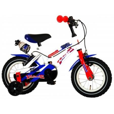 Bicicleta pentru copii Volare Super Children White 91240-IT 12 inch cu roti ajutatoare si frana de mana*