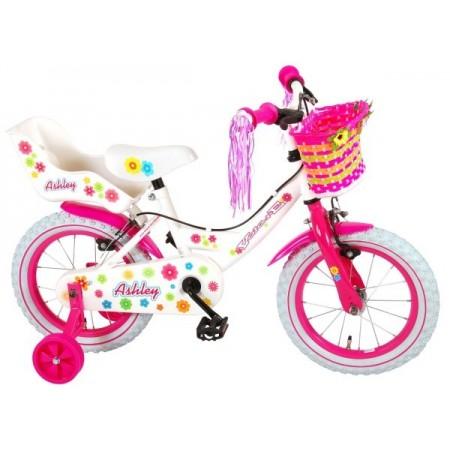 Bicicleta pentru copii Volare Ashley 81404-IT 14 inch cu roti ajutatoare si frana de mana*