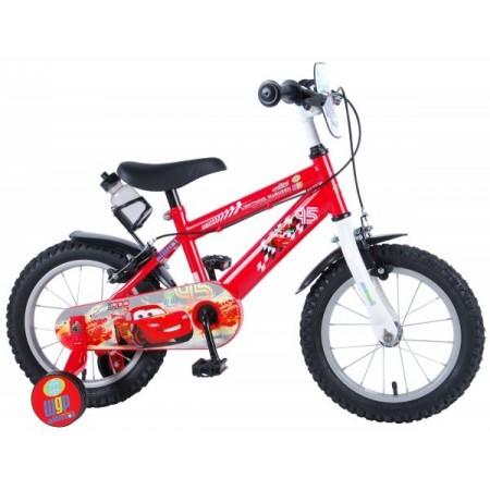 Bicicleta pentru copii Volare Cars 11448-CH-IT 14 inch cu roti ajutatoare si frana de mana*