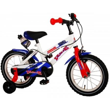 Bicicleta pentru copii Volare Super Children White 91436-IT 14 inch cu roti ajutatoare si frana de mana*