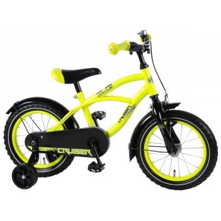 Bicicleta pentru baieti Volare Yellow Cruiser 81419 14 inch cu roti ajutatoare si frana de mana*