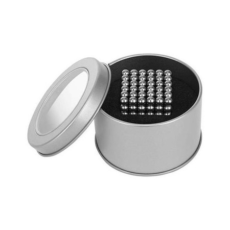Set Bile Magnetice AntiStres 5 mm, 216 piese, Cutie depozitare Iso Trade MY17314, argintiu*