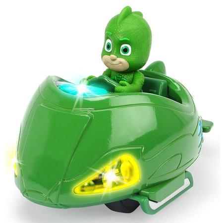 Masina Dickie Toys Eroi in Pijama Mission Racer Gekko cu figurina*