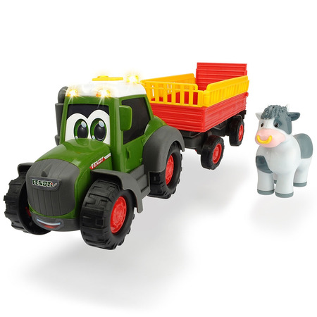 Tractor Dickie Toys Happy Fendt Animal Trailer cu remorca si figurina*