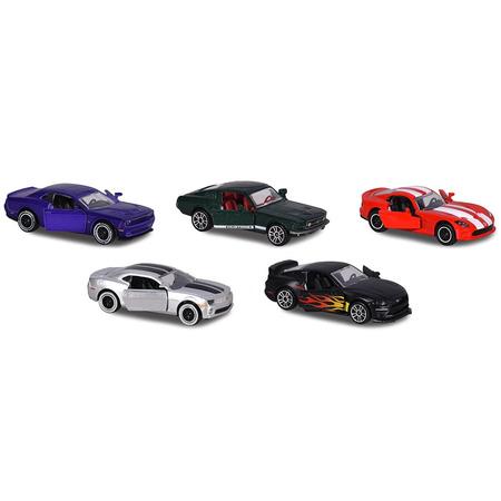 Set Majorette 5 masinute Muscle Cars*