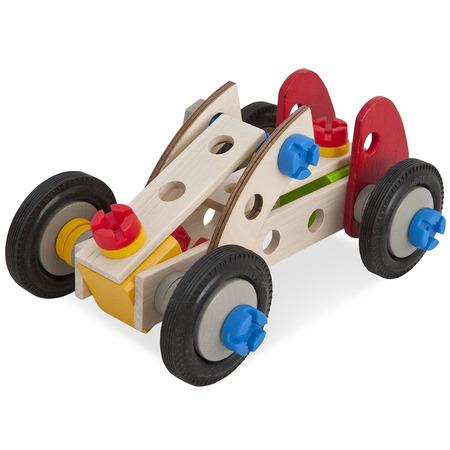 Set constructie din lemn Eichhorn Constructor Racer 50 piese*