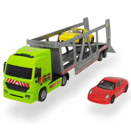 Camion Dickie Toys cu trailer si 2 masini Porsche*