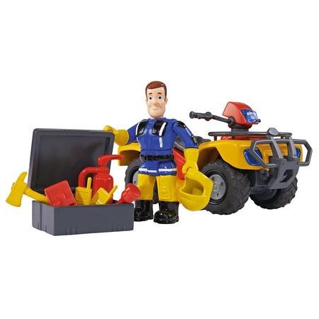 ATV Simba Fireman Sam, Sam Mercury Quad cu figurina Sam si accesorii*