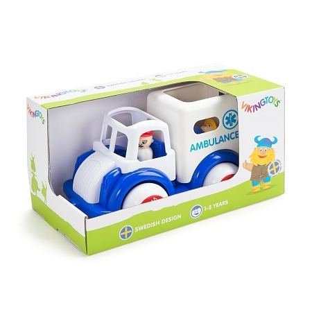 Ambulanta cu 3 figurine - jumbo, Vikingtoys*