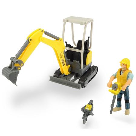 Excavator Dickie Toys Playlife Excavator Set cu figurina si accesorii*