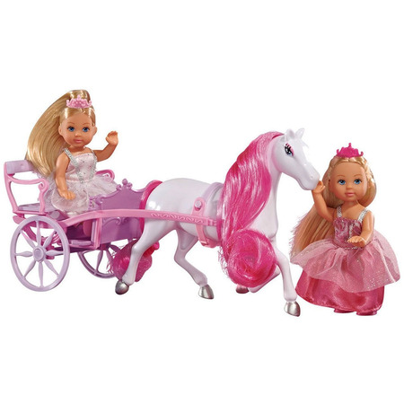 Set Simba Evi Love Romantic Carriage cu 2 papusi 12 cm si caleasca*