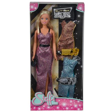 Papusa Simba Steffi Love 29 cm Glitter Style cu 3 rochii*