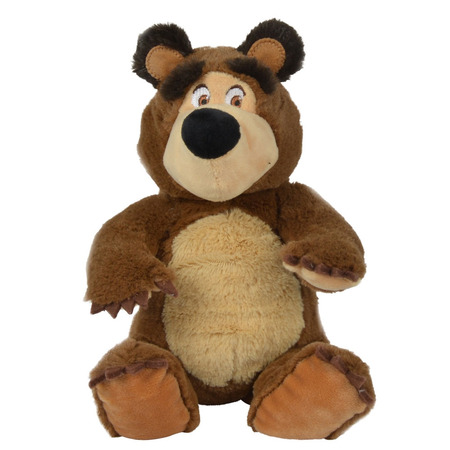 Jucarie de plus Simba Masha and the Bear, Bean Bag Bear 20 cm*