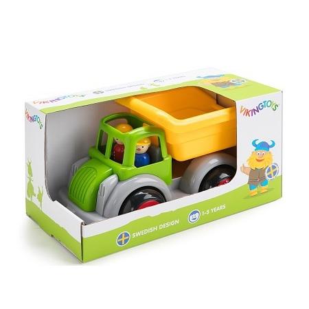 Camion autobasculanta culori vesele cu 2 figurine - jumbo, Vikingtoys*