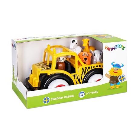 Camion safari cu ghid si animale - jumbo, Vikingtoys*