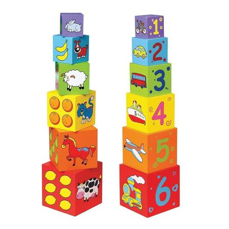 Cuburi de lemn, New Classic Toys*