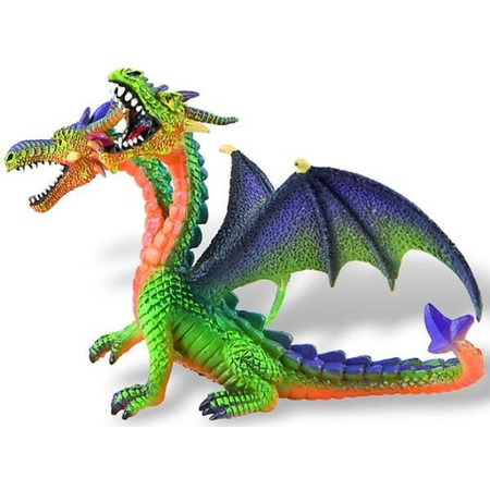 Dragon verde cu 2 capete, Bullyland*