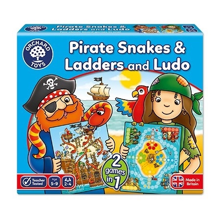 Joc de societate piratii pirate snakes and ladders & ludo, Orchard Toys*