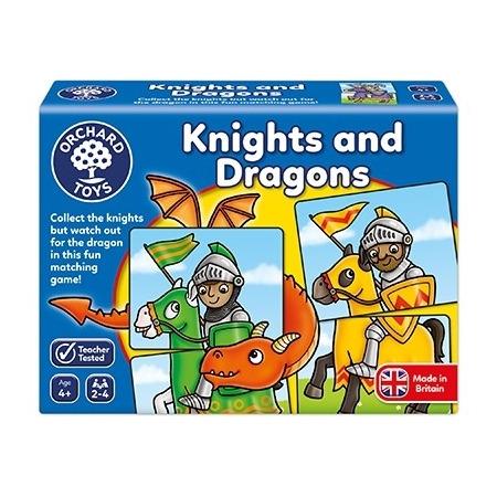 Joc educativ - puzzle cavaleri si dragoni knights and dragons, Orchard Toys*