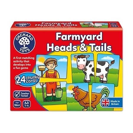 Joc educativ asociere prietenii de la ferma farmyard heads & tails, Orchard Toys*