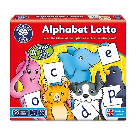 Joc educativ loto in limba engleza alfabetul alphabet lotto, Orchard Toys*