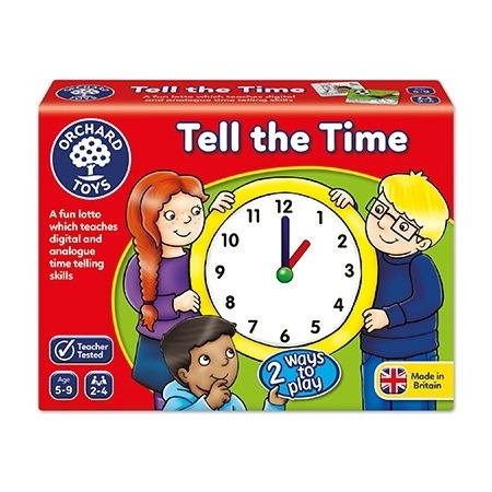 Joc educativ loto in limba engleza citeste ceasul tell the time, Orchard Toys*