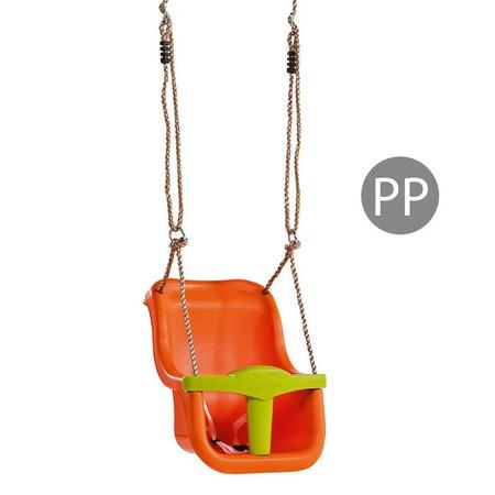 Leagan baby seat luxe culoare: orange/lime green, franghie pp 10, Kbt*