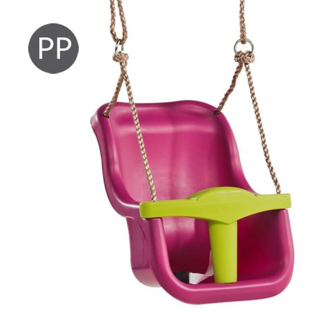 Leagan baby seat luxe culoare: purple (ral4006)/lime green, franghie: pp 10, Kbt*