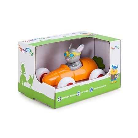 Pilot de curse iepuras in masinuta morcov - cute racer, Vikingtoys*