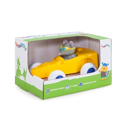 Pilot de curse soricel in masinuta cascaval - cute racer, Vikingtoys*