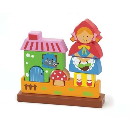 Puzzle 3d magnetic scufita rosie, New Classic Toys*