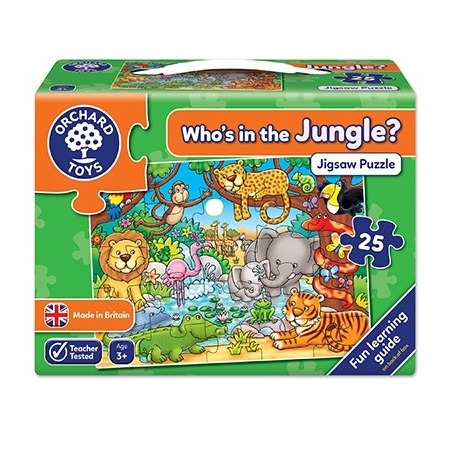 Puzzle cu activitati cine este in jungla? who's in the jungle?, Orchard Toys*